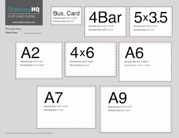 business card size inches a2 size cards ideal vistalist co