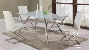 Interesting Stainless Steel Dining Room Table Beautiful Dining