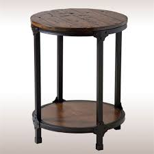 Round Black Kitchen Table Decor Rustic Round Accent Table Kitchen