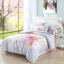 cherry blossom bedroom set tree bedding queen king size bed sheets duvet cover pillowcase brushed cotton
