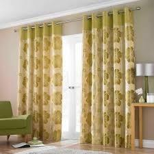 Wonderful Soft Green Curtain Design For Windows With Sofa ...
