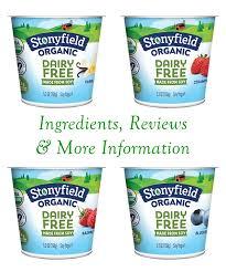 stonyfield organic dairy free soy yogurt is a cultured clic