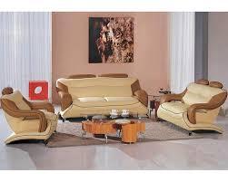 Dual Color Leather Sofa Set L - All leather sofa sets