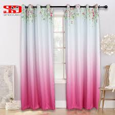 Balcony door curtains Grommet 2019 New Floral Gradient Pink Curtain For Kitchen Item Home Decoration Bedroom Balcony Door Curtain Window Single Panel Country Style From Bright689 24rusnewsclub 2019 New Floral Gradient Pink Curtain For Kitchen Item Home