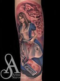 татуировка мастера старостиной арины алиса в стране чудес