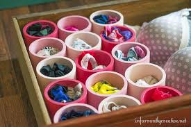 Organize Your Undies with PVC Pipes.What???