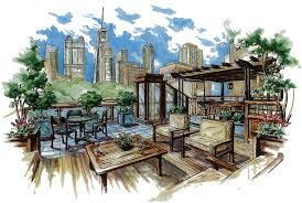 Interesting Architecture Design Sketches Urban Landscape For Decor