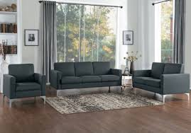 soho dark gray living room set main image