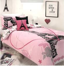 paris twin bedding set chic tower white pink grey single quilt doona cover set new paris