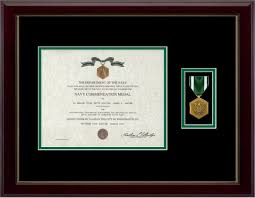 navy marine mendation certificate frame navy and marine corps mendation medal