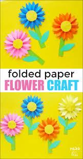 Paper Flower Craft Ideas Paper Flower Craft Mess For Less