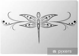 Obraz Na Plexiskle Vážka Tetování