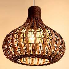tropical bamboo chandelier diy wicker rattan lamp shades weave led hanging light
