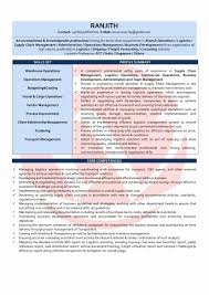 Resume Format For Operations Profile Beautiful Profile In Resume