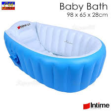 intime inflatable baby bath tub tub yt 226a blue 98x65x28cm