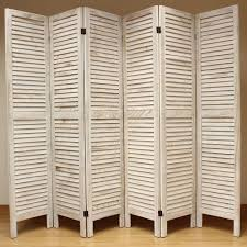 Small Picture Cream 6 Panel Wooden Slat Room Divider Home Privacy Screen