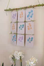 stamp pad leaf print wall hanging on wall hanging art and craft ideas with stamp pad leaf printing make a wall hanging creative jewish mom