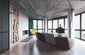 Industrial Living Room Design Industrial Small Apartment Design Attempts To Decor With A Circuit