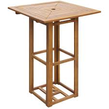 <b>Bistro Table 75x75x110</b> cm Solid Acacia Wood -