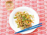 apricot beef with sesame noodles