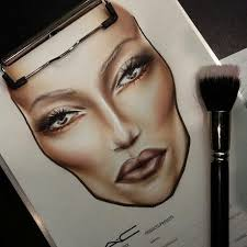facechart by barbara niemczyk m a c makeup artist poland
