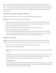 lesson plan college essay writing