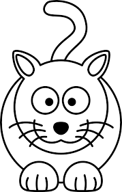 lemmling cartoon cat black white line art coloring book colouring drawing