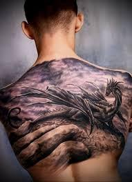 тату дракон на спине фото