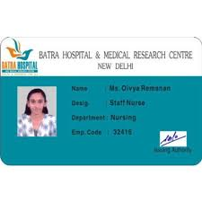 Identity 2459754662 Rectangular piece Id Rs Plastic Cards Hospital 25