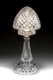 antique diamond cut glass table lamp richard gardner