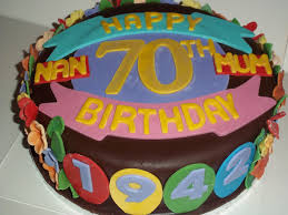 70th Birthday Cake Jans Occasional Cakes