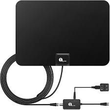 amazon com audio video accessories electronics cables 1byone amplified hdtv antenna 50 mile range detachable amplifier usb power supply and 10ft coax cable