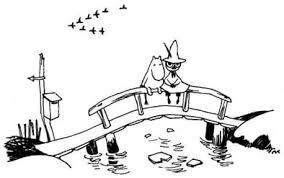 ムーミン谷の橋の上で チョコごろね