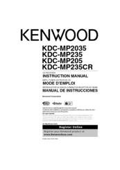 kenwood kdc mp205 manuals