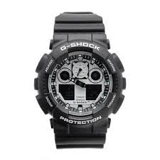 casio g shock mens analog digital watch sport black band ga 100bw image is loading casio g shock mens analog digital watch sport