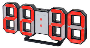 <b>Часы</b>-будильник LED <b>Perfeo Luminous</b> PF-663, черный корпус ...