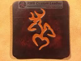 custom leather coaster