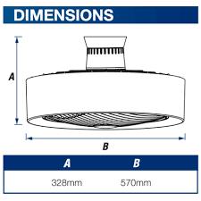 white manhattan enclosed ceiling fan