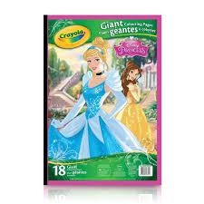 Crayola Disney Princess Giant Coloring Pages Murderthestout