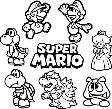mario bros coloring pages. Simple Bros Mario Brothers Coloring Pages New In Bros R