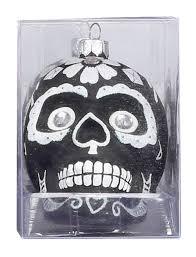 Weihnachtskugel Glas Totenkopf