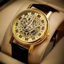 skeleton watch buy skeleton watch online at best price in brown strap golden dial skeleton watch for men