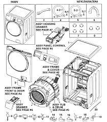 Samsung washer parts model wf419aawxaa0000 sears partsdirect rh searspartsdirect ge washer parts diagram maytag performa