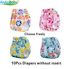 Hot Sale 10pcs <b>AnAnBaby Machine Prints</b> Carton Baby Nappies ...
