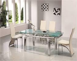 modern glass dining room tables. enchanting glass chrome dining room table modern tables