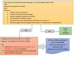Reporting Requirements Transport Canada