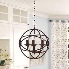 Richwood 3 Light Globe Chandelier Multi Globe Glass Chandelier Wayfair
