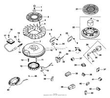 kohler cv cub cadet hp parts diagrams ignition electrical 5 27 13 tp 2351