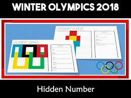 Winter Olympic Games South Korea Pyeongchan 2018 Hundreds Chart Hidden Picture