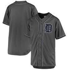Men's Detroit Tigers Majestic Fashion Charcoal Big & Tall Team Jersey